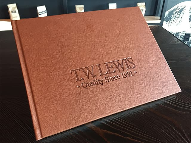 TW Lewis Quality Since 1991 Leather Bound Book