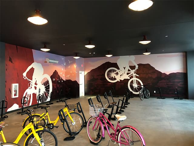 NEXA Bike Room Mural Graphics