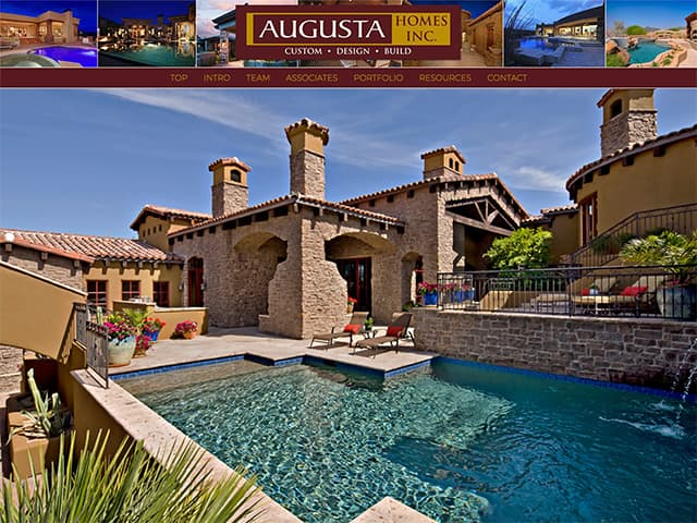 Augusta Homes AZ Website